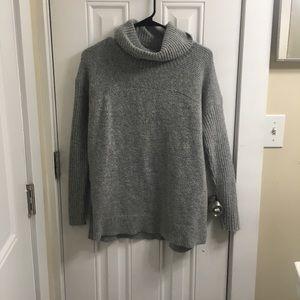 Oversized Gray Turtleneck Sweater